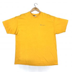 vintage_champion_embroidered_essential_logo_yellow_tshirt_a0086