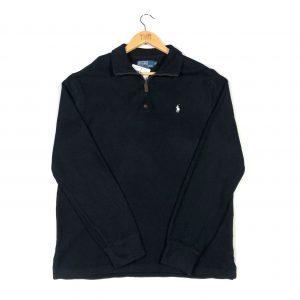 vintage_black_ralph_lauren_essential_embroidered_quarter_zip_sweatshirt_s0078
