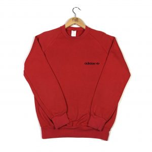 vintage_adidas_90s_trevoil_essential_logo_red_sweatshirt_s0038