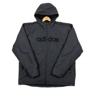 vintage_adidas_grey_3_stripes_padded_jacket_J0032