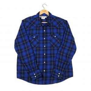 vintage_levis_blue_checked_flannel_popper_shirt_sh0007_