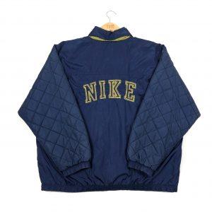 vintage_nike_navy_quilted_waterproof_coat_jacket_J0033