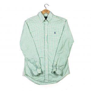 vintage_ralph_lauren_green_graph_check_shirt_sh0014