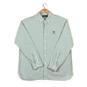 vintage_ralph_lauren_yacht_club_green_striped_shirt_sh0022