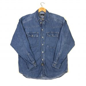 vintage_versace_blue_denim_long_sleeve_shirt_sh0024