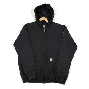 vintage_carhartt_black_essential_zip_up_hoodie_h0067