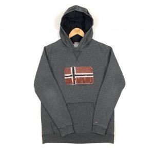 vintage_napapijri_grey_embroidered_spell_out_logo_hoodie_h0073