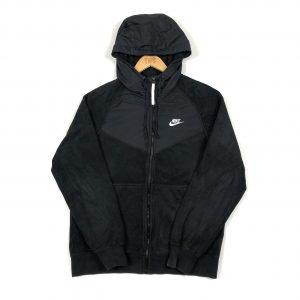 vintage_nike_black_zip_up_fleece_hoodie_h0069