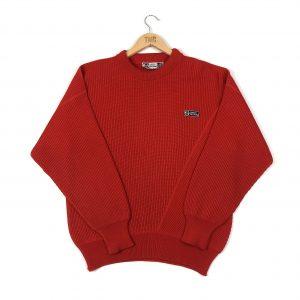 vintage_sergio_tacchini_red_knit_jumper_sweatshirt_S0222