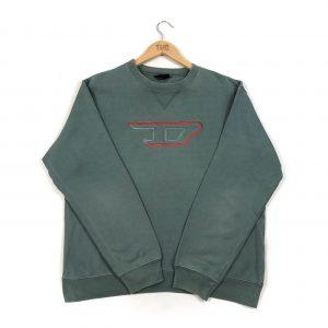 vintage_diesel_designer_sage_green_embroidered_essential_sweatshirt_s0299