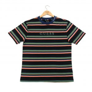 vintage_guess_los_angeles_black_embroidered_striped_oversized_tshirt_a0179