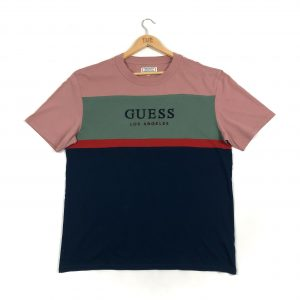 vintage_guess_los_angeles_navy_embroidered_colour_block_tshirt_a0177