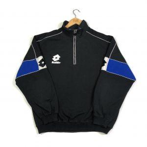 vintage_lotto_black_embroidered_quarter_zip_sweatshirt_large_s0357