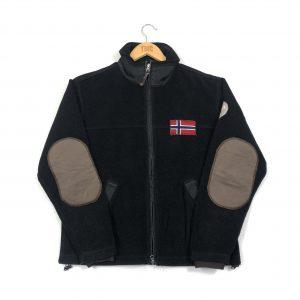 vintage_napapijri_black_zip_up_fleece_jacket_fl0023