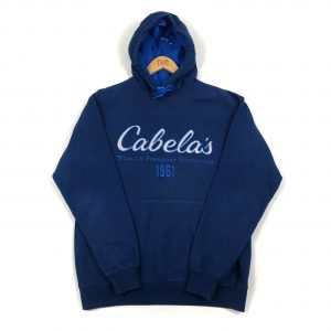 vintage_usa_cabelas_fishing_blue_embroidered_spell_out_hoodie_h0112