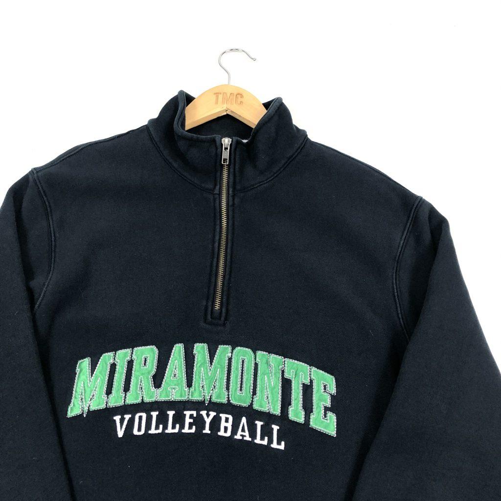 vintage_usa_miramonte_black_quarter_zip_embroidered_sweatshirt_medium_s0338