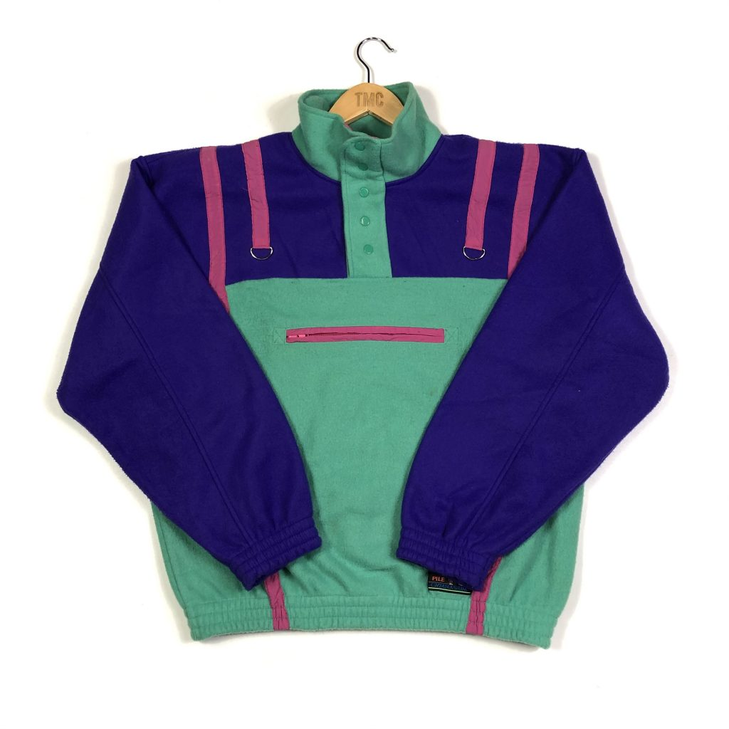 vintage_90s_green_quarter_popper_fleece_fl0038