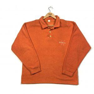 vintage_calvin_klein_orange_essential_polo_fleece_sweatshirt_fl0054