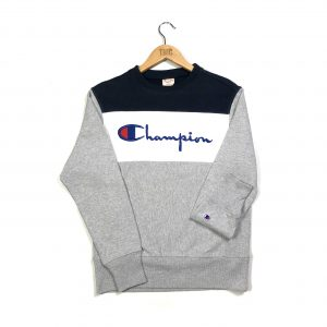 vintage_champion_grey_embroidered_spell_out_sweatshirt_small_s0450