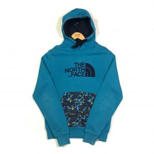 vintage_the_north_face_tnf_blue_embroidered_hoodie_h0137