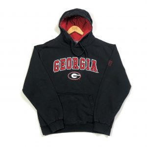 vintage_usa_georgia_state_black_spell_out_hoodie_large_h0169