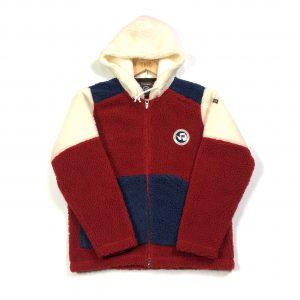 vintage_womens_napapijri_flag_borg_red_zip_up_fleece_hoodie_fl0058