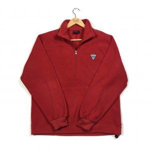 vintage_champion_red_essential_quarter_zip_fleece_large_fl0065