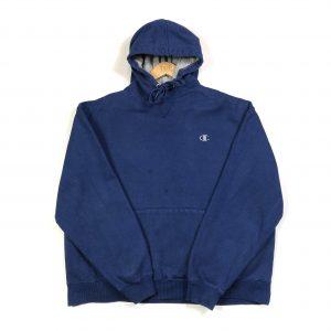 vintage_chmapion_essential_logo_blue_hoodie_h0208