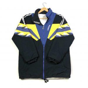vintage_adidas_3_stripes_black_longline_padded_jacket_j0184