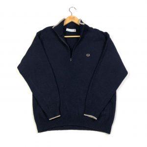 vintage_sergio_tacchini_navy_essential_quarter_zip_knit_jumper_s0607