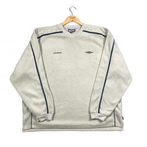 vintage_umbro_beige_essential_v_neck_fleece_sweatshirt_fl0105