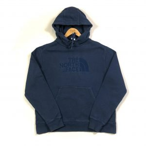 vintage_the_north_face_embroidered_spell_out_blue_hoodie_h0232