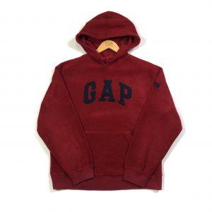 vintage_gap_sherpa_fleece_hoodie_red_h0242