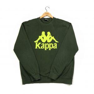 vintage_printed_kappa_big_logo_green_sweatshirt_s0713