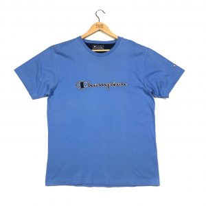 vintage_champion_embroidered_spell_out_blue_t_shirt