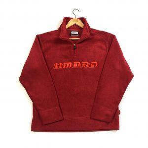 vintage_umbro_embroidered_quarter_zip_fleece