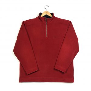 vintage_tommy_hilfiger_red_essential_quarter_zip_fleece