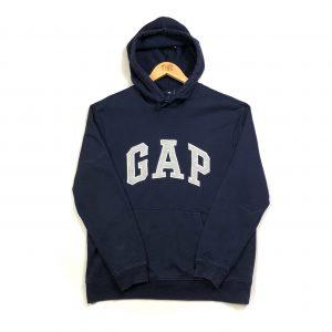 vintage_gap_navy_embroidered_hoodie