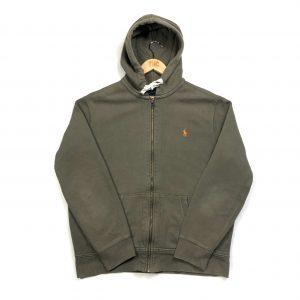 vintage_ralph_lauren_khaki_zip_up_hoodie