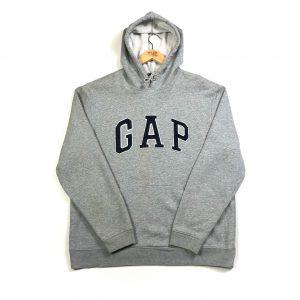 vintage_gap_grey_embroidered_hoodie