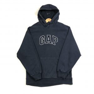 vintage_gap_embroidered_spell_out_navy_hoodie