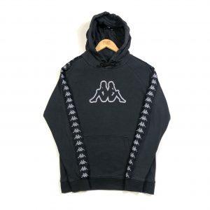vintage_kappa_tape_logo_black_hoodie_h0295