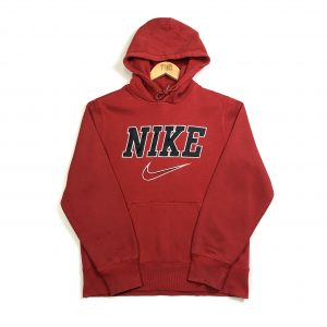 vintage_nike_spell_out_logo_red_hoodie