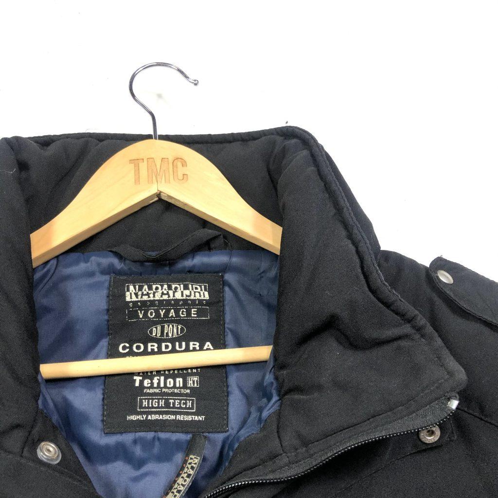 vintage_napapijri_padded_parker_pocket_black_jacket