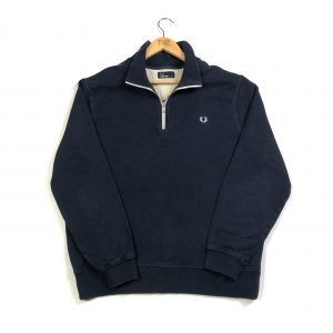vintage_fred_perry_navy_quarter_zip_sweatshirt