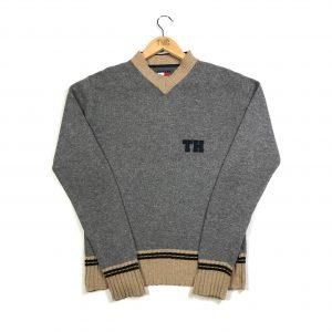 vintage_tommy_hilfiger_grey_knit_jumper