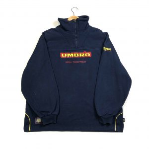 vintage_umbro_embroidered_spell_out_quarter_zip_sweatshirt
