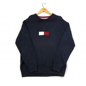 vintage_tommy_hilfiger_navy_knit_jumper