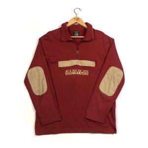 vintage_napapijri_red_quarter_zip_sweatshirt