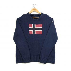 tmc_vintage_napapijri_flag_logo_navy_knit_jumper